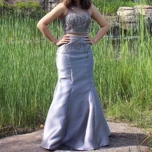 Grey 2 piece Prom dress